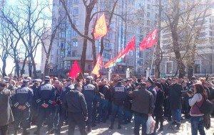 Antifascists protest Ukraine's president in Odessa April 10, 2015 (Timer)