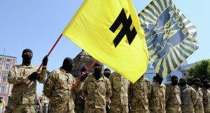 Azov Battalion members in Kyiv (Alexandr Maksimenko, Sputnik)