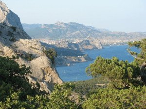 Crimean landscape near Teodosiia