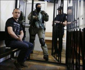 Denys Polischuk, arrested for murder of journalist Oles Buzina (UNIAN photo, June 18, 2015)