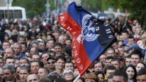 Flag of Donetsk People's Republic (Laurent Brayard)