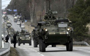 NATO forces in Estonia March 22, 2015 (Ints Kalnins, Reuters)