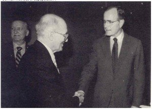 President George Bush and Yuroslav Stetsko of the OUN