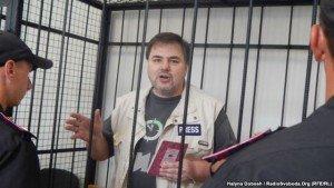 Ruslan Kotsaba in court on June 3, 2015 (RFE-RL)