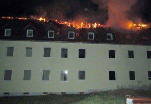 Asylum hostel aflame in eastern Germany (Saschsen-Anhalt police, via DPA)