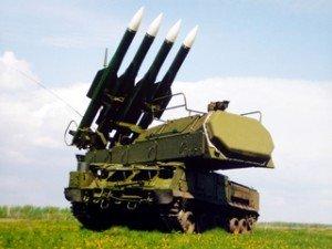Buk missile firing platform