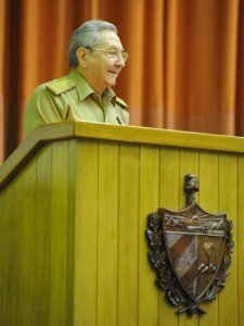 Cuban President Raoul Castro speaking in Havana on July 15, 2015 (Granma)