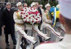 Canadian PM Stephen Harper in Ukraine in 2010