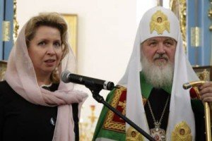 Svetlana Medvedeva and Patriarch Kirill