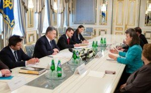 Victoria Nuland meeting with Ukrainian president on July 16, 2015 (photo by TASS and press service of the president of Ukraine)
