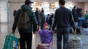 Asylum seekers arriving in Russia (Aleksandr Pogotov, RIA Novosti)