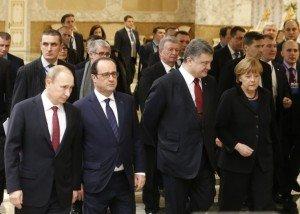 Ceasefire talks in Minsk, Belarus on Feb. 11, 2015, photo by Reuters