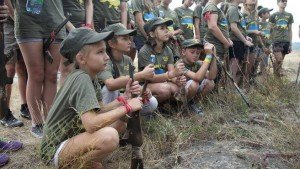 Children are receiving military instruction in today's ultra-nationalist Ukraine, including from extremist militias (AP photo)