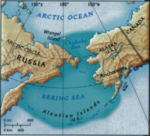 Bering Strait World Map