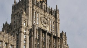 Ministry of Foreign Affairs building of the Russian government, in Moscow (Andrey Telichev, RIA Novosti)