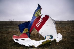 Photo on Nov 10, 2014 near the crash site of MH17, 80 km east of Donetsk, (photo by Dimitar Dilkoff-AFP)