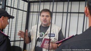 Ukrainian journalist Ruslan Kotsaba, criminally charged for speaking out against the war in eastern Ukraine. You won't find news about his case in Western media