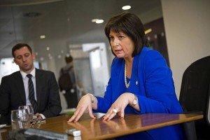 Ukrainian Finance Minister Natalie Jaresko in March 2015 (Ben Cawthra, Eyevine-Zuma Press)