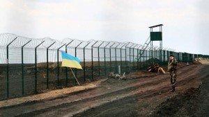 Ukrainian border barrier constructed in Kharkiv region, pictured in April 2015 (Inna Varenytsia, AP)