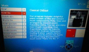 Valentina Listsa's page previously featured on KLM airline entertainment, since censored by the airline (Twitter)