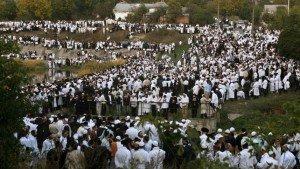 Jewish pilgrims at the grave of Rabbi Nachman of Breslov in Uman, Reuters