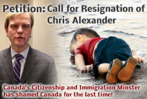 Petition calling for Chris Alexander's resignation
