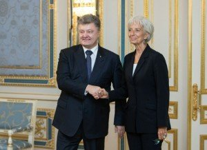 Petro Poroshenko and IMF Managing Director Christine Lagarde in Kyiv on Sept 6, 2015 (Ukrainian Presidential Press-Service)