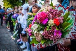 Students at Donetsk School #4 begin school year, Sept 1, 2015 (photo by Denis Grigoryuk)