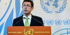 UN's Assistant Secretary-General for Human Rights, Ivan Šimonović, speaking to media in March 2015 (AP photo)