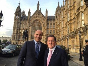 Andriy Parubiy in London with former Labour MP and NATO Secretary-General Lord George Robertson, Oct 2015 (image on Facebook page of Andriy Parubiy)