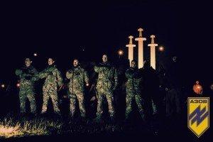 Azov Battalion ceremony in village of Urzuf, near Mariupol, Oct 22, 2015 2