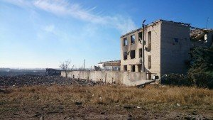 Remains of munitions warehouse in Svatove, eastern Ukraine (Facebook)