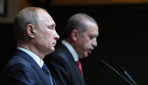 Russian President Vladimir Putin and Turkish President Recep Tayyip Erdogan in Ankara, Dec. 1, 2014 (Mikhail Klimentyev, Reuters)