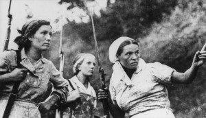 Soviet partisan fighters in Ukraine, 1943