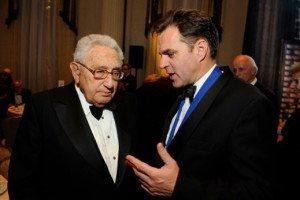 British historian Niall Ferguson with Henry Kissinger in 2011