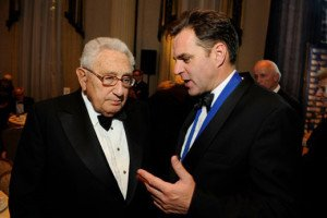 British historian Niall Ferguson with Henry Kissinger in 2011