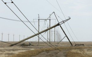 Electricity line near Chongar, southern Ukraine, sabotaged on the weekend of Nov 20-21, 2015 (Reuters)