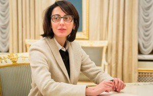 Khatia Dekonaidze, Georgian national appointed head of Ukraine's national police on Nov 4, 2015 (photo by gov't of Ukraine)