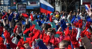 'Crimean Spring' rally in Simferopol March 2015 marking one year of decision to secede from Ukraine (Evgeny Biyatov, Sputkik News)