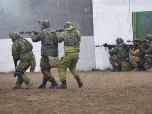 Exercise at NATO's training ground in western Ukraine (photo by US Army)