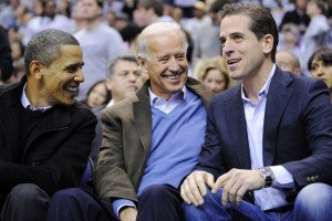 Hunter Biden, right, with his father, Vice President Joe Biden, center, and President Barack Obama in Washington, D.C., in 2010 (Associated Press)