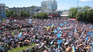 In Simferopol on May 18, 2009, Crimean Tatars commemorate the 65th anniversary of the mass deportation