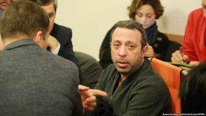 Gennadiy Korban at trial hearing on Dec 28, 2015 (Maryan Kushnyr, Radio Free Europe)