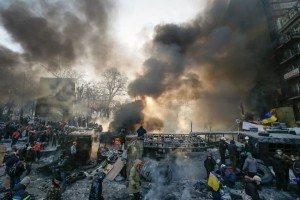 Maidan Square in Kyiv on Jan 25, 2014 (photo by DPA)