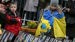 Memorial to those killed on Maidan Square in Kyiv in February 2014 (Reuters)