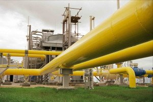 Natural gas pipeline image from Gazprom