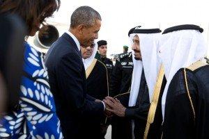 Obama meets Saudi King Salman during a state visit to Saudi Arabia on Jan. 27, 2015 (White House Photo by Pete Souza)