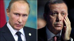 Russian President Vladimir Putin and Turkish President Tayyip Erdogan (Reuters)