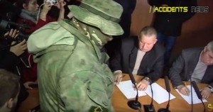Three judges sign their resignation letters 'or else' in Odessa courtroom on Nov 30, 2015