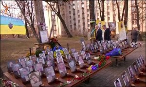 U.S. VP Biden visits memorial on Maidan Square, Dec 7, 2015 (screenshot from Reuters)